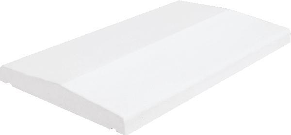 Couvertine VIEILLE PIERRE arrondi 49x33cm blanc tradition
