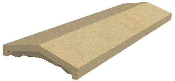 Couvertine OPTIPOSE 2 pentes 99x30cm ton pierre