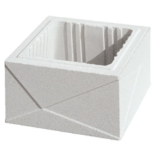 Elément de pilier PRISME blanc cassé 29x29x16,7cm