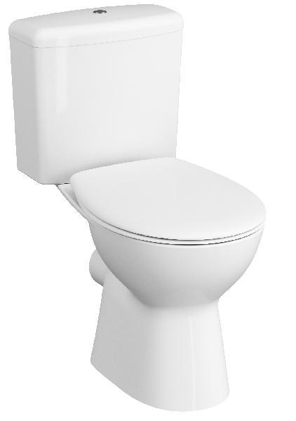 Cuvette WC murale sans bride 6l NORMUS SPINFLUSH blanc 35,5x54x35cm