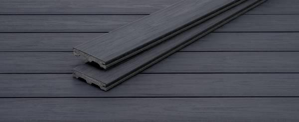 Lame terrasse PIAZZA ONE bois composite streaked ebony 25x140mm 4m