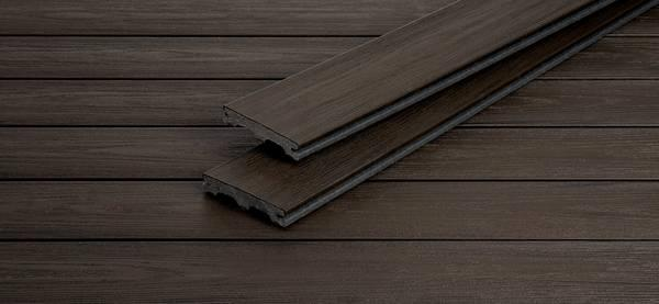 Lame terrasse PIAZZA ONE bois composite brazilian walnut 25x140mm 4m