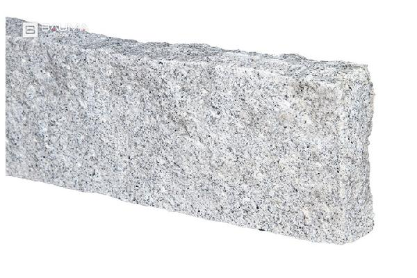 Bordure granit STOCKHOLM faces clivées 10x25x100cm gris clair