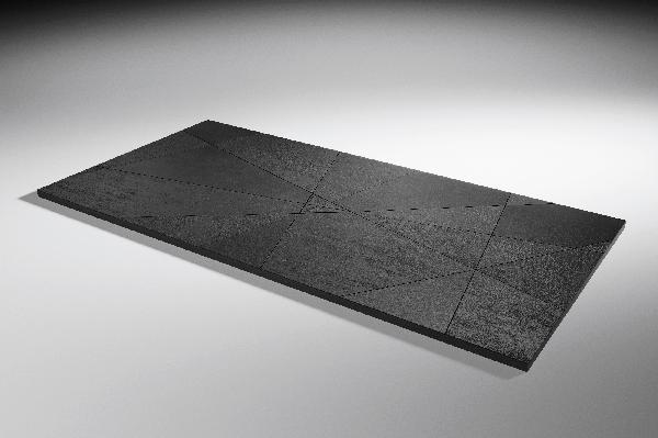 Receveur akron SMART QUIZ 120x80cm noir