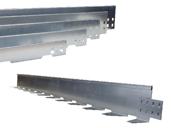 Bordure équerre acier galva NIDABORDER 80mm 1900 50mm