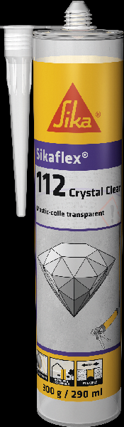 Mastic colle SIKAFLEX CRYSTAL CLEAR cartouche 290ml