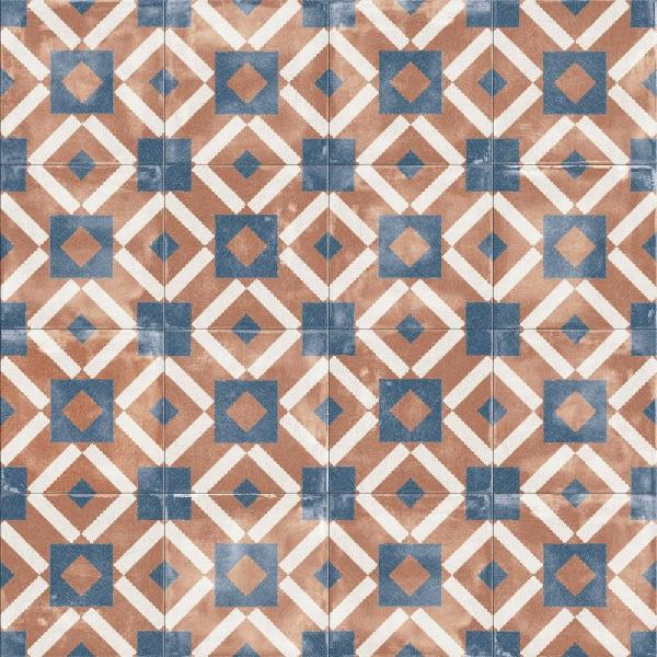 carrelage décor PLAY labyrinth cotto 20x20cm Ep.8,5mm