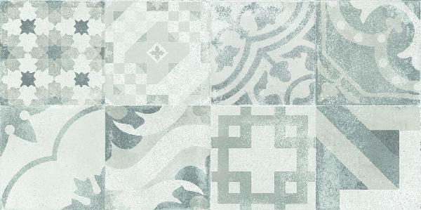 Faïence décor NEXUS gris 30x60cm Ep.10mm