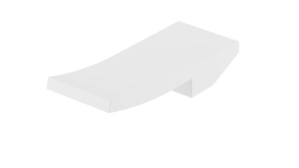 Poignée lavabo/bidet ELY blanc mat