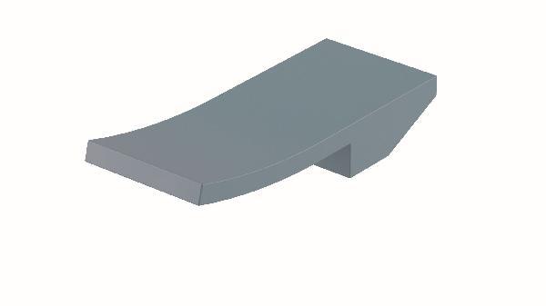 Poignée lavabo/bidet ELY bleu pastel mat