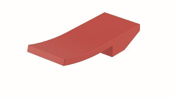 Poignée lavabo/bidet ELY rouge mat