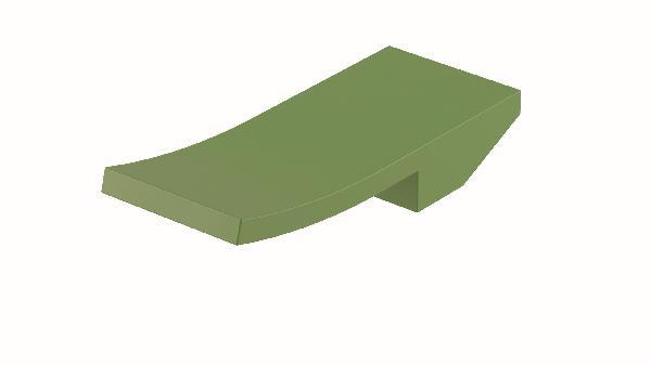 Poignée lavabo/bidet ELY vert mat