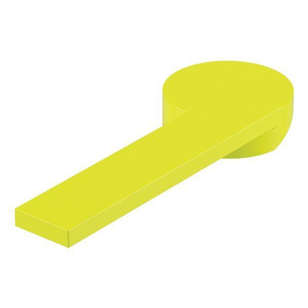 Poignée lavabo/bidet COLOR jaune brillant