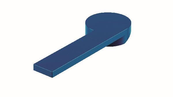Poignée lavabo/bidet COLOR bleu brillant