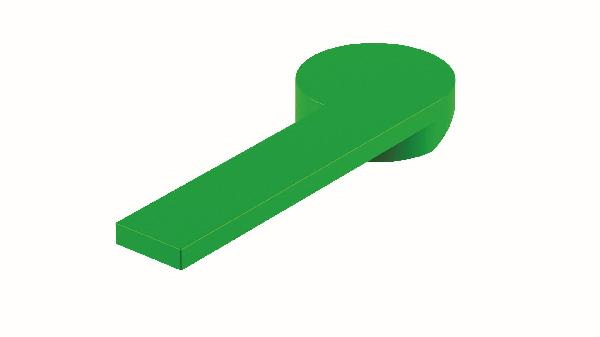 Poignée lavabo/bidet COLOR vert brillant