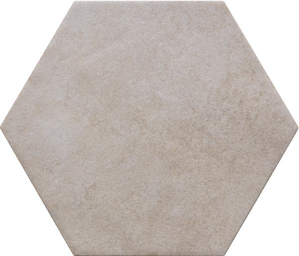 Faïence hexagone BIBULCA white 18x21cm Ep.10mm
