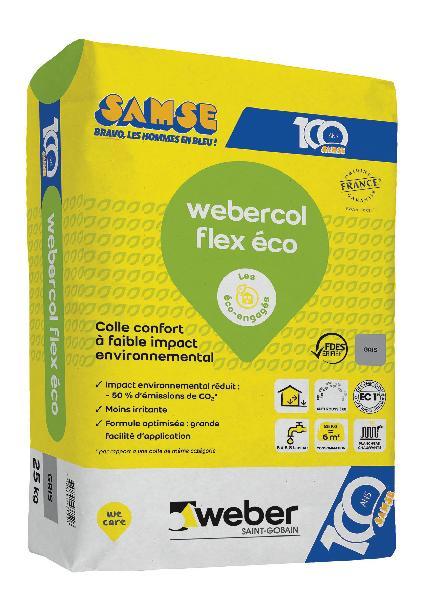 Mortier colle carrelage COL FLEX ECO Ed.100 ANS gris sac 25kg C2S1 ET