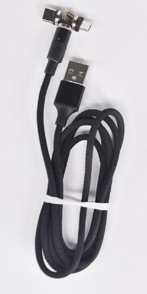 Câble USB magnétique 3en1 3,0A 1m noir