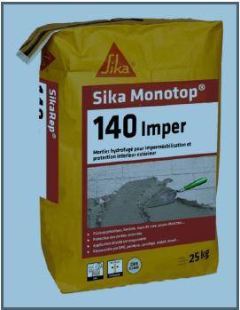 Mortier  imperméabilisation MONOTOP 140 IMPER Gris sac 25kg