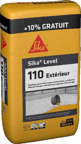 Mortier autonivelant SIKALEVEL 110 EXTERIEUR sac 25kg +10%