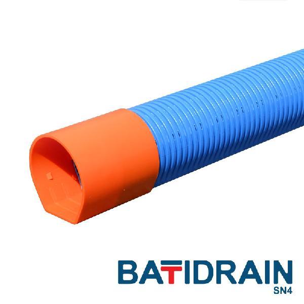 DRAIN PVC bâtiment BATIDRAIN perforé CR4 Ø90 2,50m