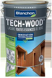 Lasure bois protection U.V TECH-WOOD satiné chêne rustique bidon 2,5L
