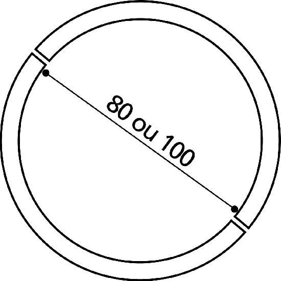 ENTOURAGE ARBRE 2 ELEMENTS D80 H15  GRAIN
