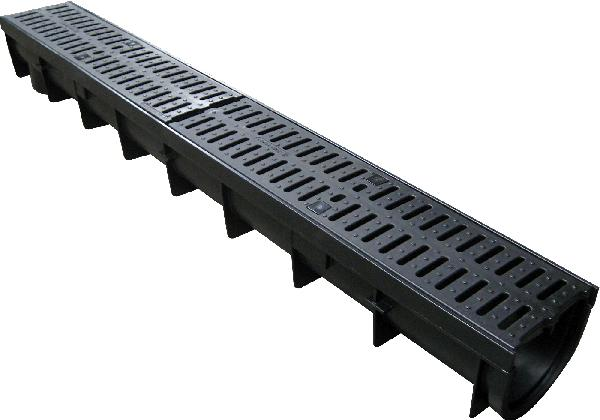 INDICANIVEAU PP + grille passerelle polyamide B125 PMR 1m