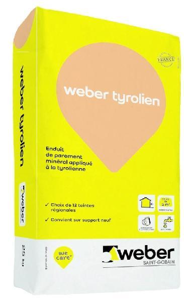 ENDUIT TYROLIEN 104 Beige ambre sac 25Kg