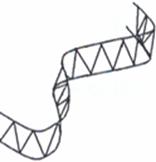 Ecarteur de nappes sinusoidal H.90mm 2m