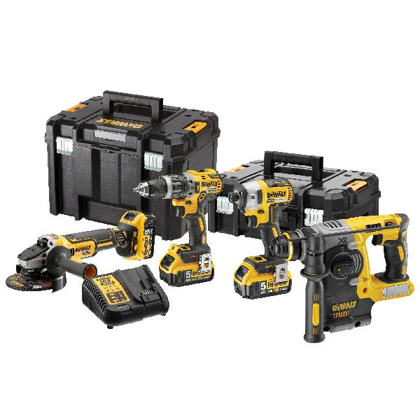 Kit 4 outils XR 18V 5Ah Li-Ion +DCD796+DCF887+DCG405+DCH273+DWST1
