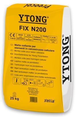 Mortier colle béton cellulaire YTONG Fix sac 25kg