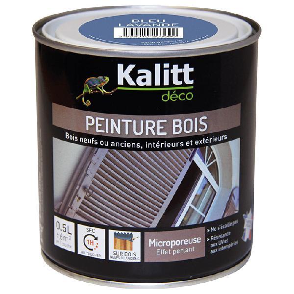 Peinture bois KALITT satinée bleu lavande 0,5L
