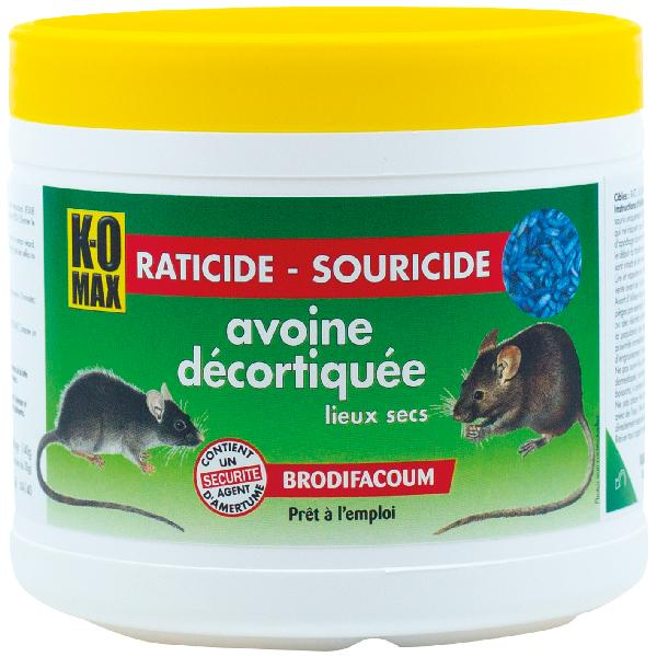 Raticide souricide avoine KOMAX 140g