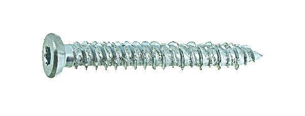 Vis tête fraisée étoile pour béton acier zingué Ø7.5x162mm vybac 24