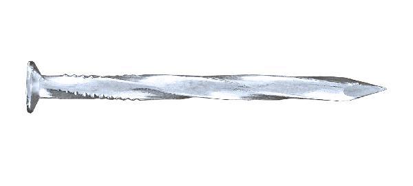 Pointe torsadée tête plate Ø4.2x90mm acier zingué vybac 0.800Kg