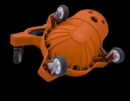 SUPPORT DE GENOUX SUR ROULETTES à roulettes pour carreleur orange