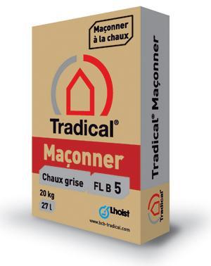 Chaux Grise Tradical Maçonner FL B 5 sac 20Kg