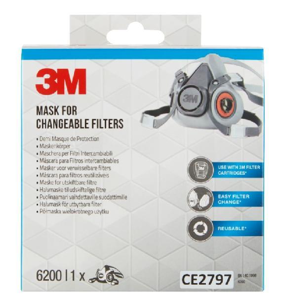Demi-masque à cartouches avec filtres EN141 6200PRO 00