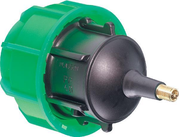 Bouchon fin de ligne +valve PLASSCOM pour gaine PE Ø40mm femelle