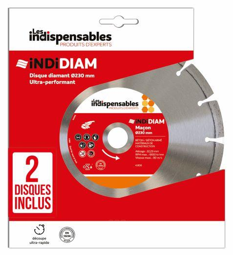 PACKS INDIDIAM X2 MACON 230MM LOT 5 diamant Ø230mm lot 5