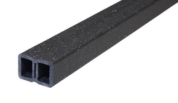 Lambourde PROFI DECK bois composite noir 40x60mm 4,00m pièce(s)