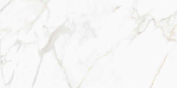 Carrelage NOCTURNE white/gold semi poli 60x120cm Ep.10mm