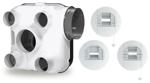 VMC GREEN'AIR simple flux hygroréglable kit