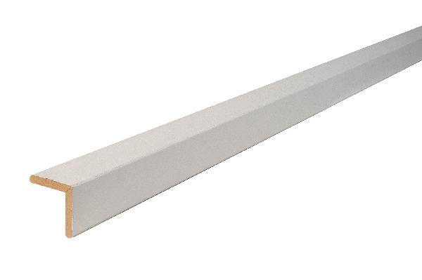 Angle MDF arrondi prépeinture blanche 23x23mm 2,44m