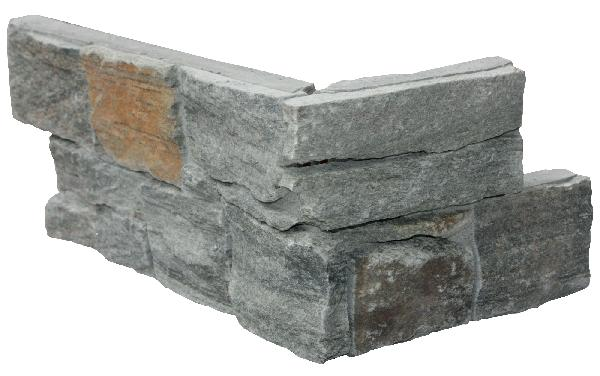 Chaine angle quartzite BALI 15x20/40cm Ep.20-40mm gris mordoré