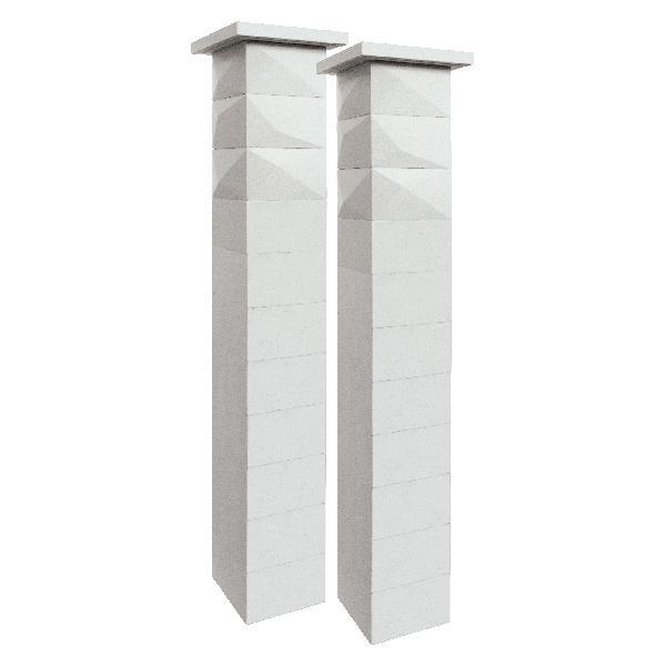 Kit 2 piliers TRIGONE SIMPLE TOUCH 29x29x188cm