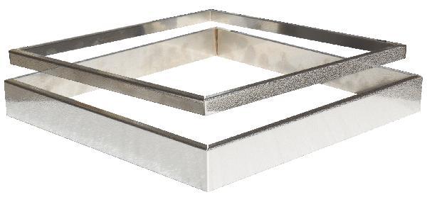 Kit 2 inserts aspect cuir PLATINUM/STEEL'IN inox 39x39cm