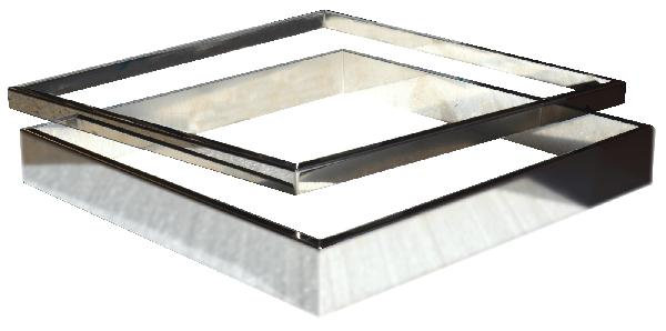 Kit 2 inserts lisse PLATINUM/STEEL'IN inox 39x39cm