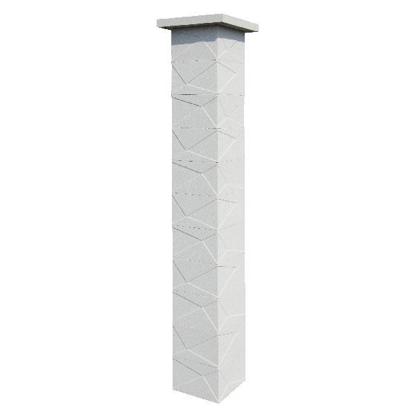 Kit 2 piliers PRISME LIGHT sans insert 29x29x188cm